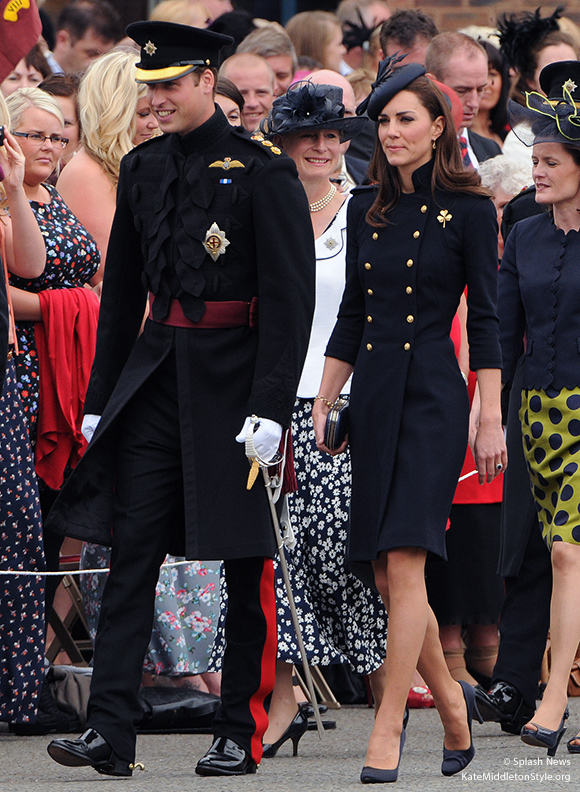 William and Kate attend Irish Guard Armed Forces Day event - 2011