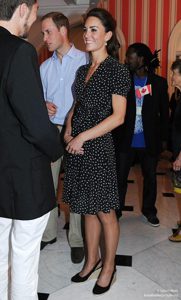 Kate in Canada, wearing her Pied-A-Terre Imperia Wedges