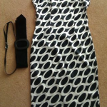 Kate's black and white Zara dress