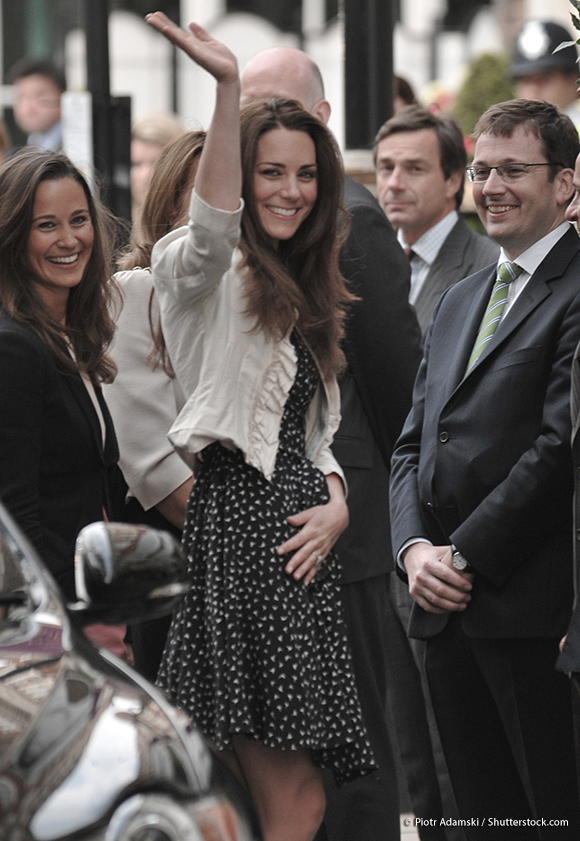 Kate wearing the Issa Bird dress before her wedding day