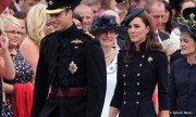 Kate looks stunning in blue military-style jacket by Alexander McQueen