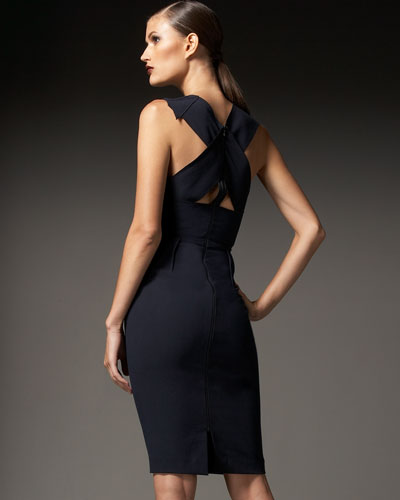 A look at the back of Kate's Roland Mouret Manon dress