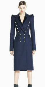 Kate Middleton Blue Coat Gold buttons
