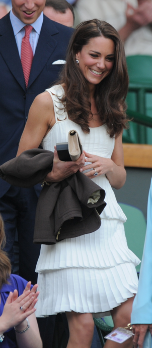 Kate Middleton White Dress Wimbledon
