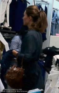 Spotted: Kate shopping