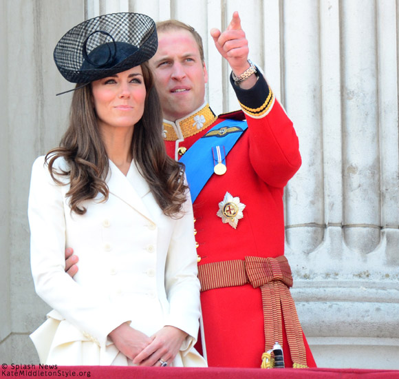 Kate and William at Trooping the Colour 2011