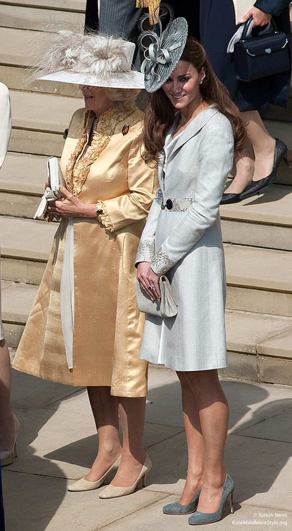 Kate with Camilla at the 2011 Order of the Garter ceremony