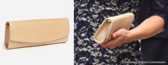 Stuart Weitzman Muse / Raz clutch bag in nude