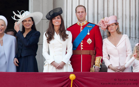 Kate wears white Alexander McQueen coat for Trooping the Colour 2011
