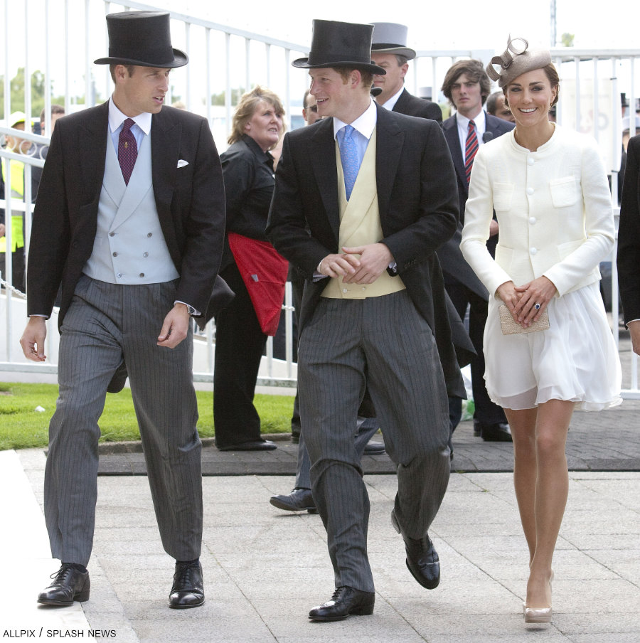 William, Kate and Harry attend the 2011 Epsom Derby