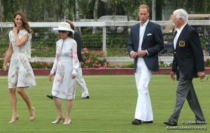 Kate wears Jenny Packham dress to Santa Barbara polo match