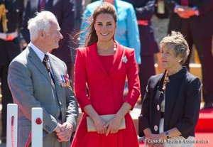 Kate wears red Catherine Walker coat-dress for final day in Canada