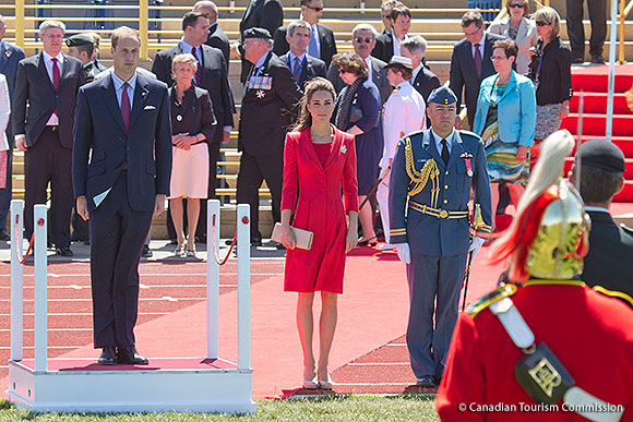 William and Kate on the final day of the Canadian leg of the Royal Tour 2011