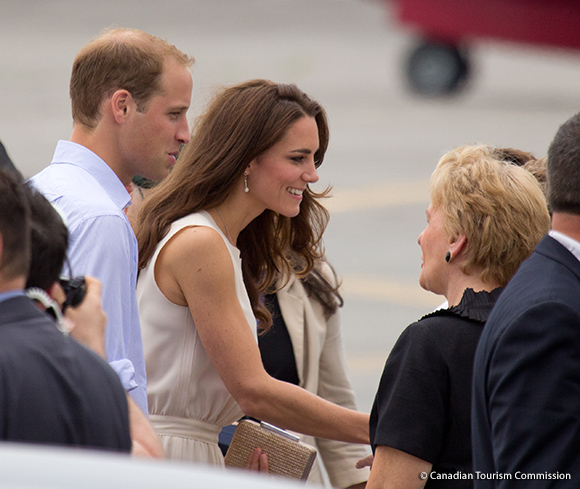 Kate in Charlottetown, wearing the Joseph Vanessa dress