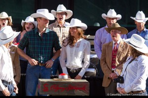 Kate attends the Calgary Stampede in white Alice by Temperley blouse