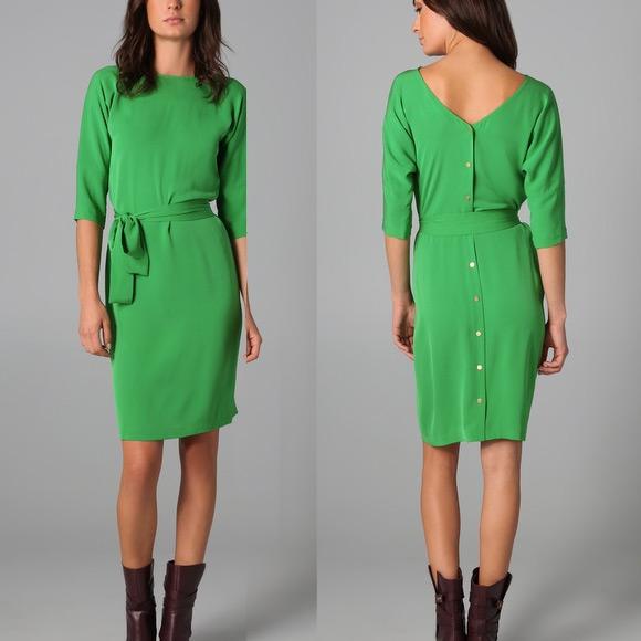 DVF Maja Dress in Green