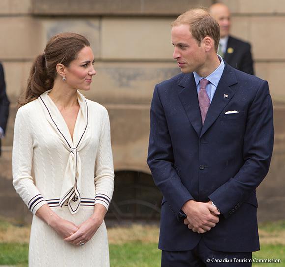 """Duchess Kate's Alexander McQueen """"Sailor Dress"""" ensemble."""