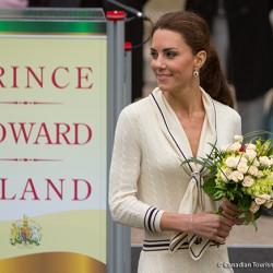 Kate wears cream Sarah Burton dress in Charlottetown