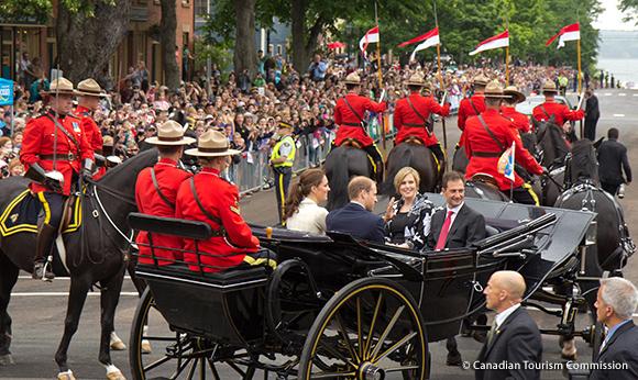 Procession through Charlottetown, Prince Edward Island