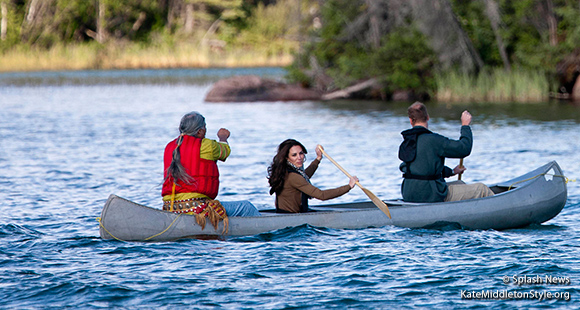 Britain's Prince William and Catherine, The Duke and Duchess of Cambridge in Yellowknife on day 6 of their official visit to Canada. William and Kate travel by float plane for Blachford lake and meet locals.