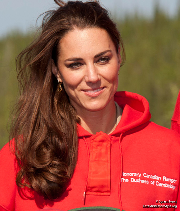 Kate Middleton wearing the Kiki McDonough Citrine Drop earrings in Yellowknife, Canada