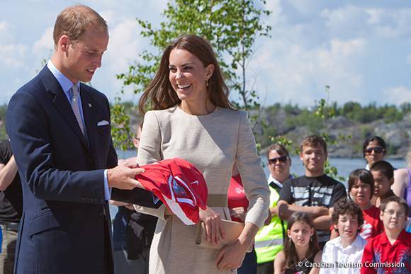 "Kate wears a By Malene Birger ""Bullet"" dress to Yellowknife."
