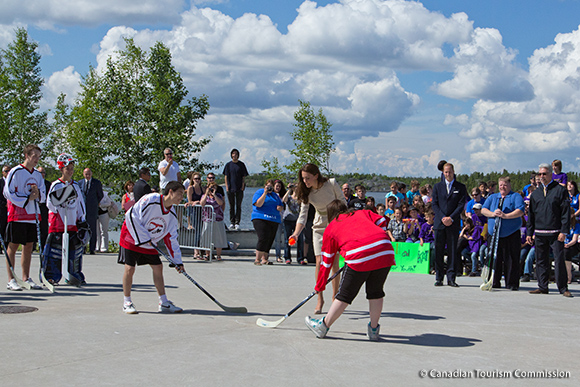 Street Hockey in Yellowknife