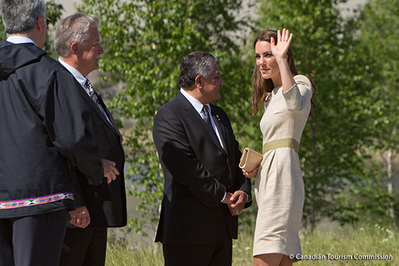 Duchess Kate wears the By Malene Birger Bullet Dress in Yellowknife, Canada