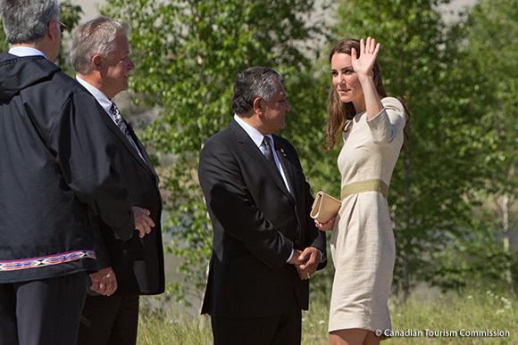 Duchess Kate wears the By Malene Birger Bullet Dress in Yellowknife, Canada