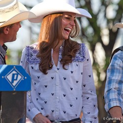 Kate wears Alice by Temperley blouse for the Calgary Stampede