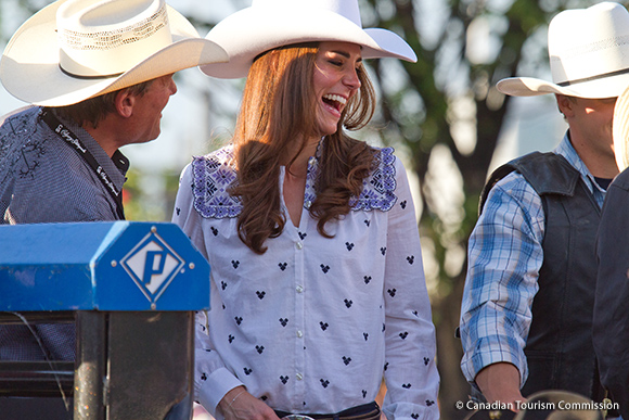 Kate at the Calgary Stampede, wearing an Alice by Temperley shirt