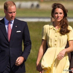 Kate wears yellow Jenny Packham dress in Calgary