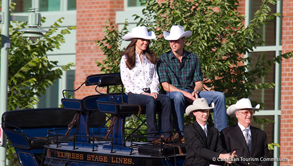 William and Kate visit the Calgary Stampede