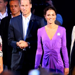 Kate's in purple Issa dress for Canada Day evening celebrations