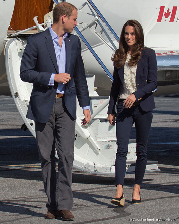 Duchess of Cambridge wore her Pied A Terre Imperia wedges during a visit to Slave Lake, Canada