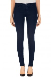 Kate wears J Brand 811 jeans. She wears the Navy Mid-Rise Skinny Leg Jeans in Luxe Twill