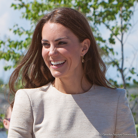 Kate wore her Kiki McDonough Citrine Earrings in Yellowknife