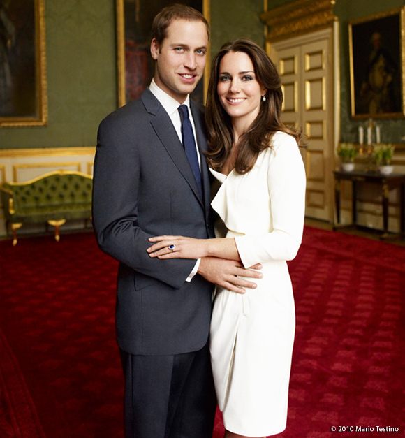 William & Catherine's official engagement portrait