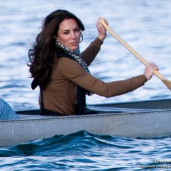 Kate dresses casually in Burberry shirt for activities in Yellowknife, Canada