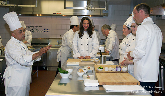 William and Kate visited Montreal and took part in a cooking class