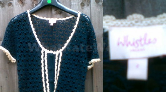 Whistles Crochet Top - Via eBay UK Auction #250858861300 - Via WhatKateWore.com