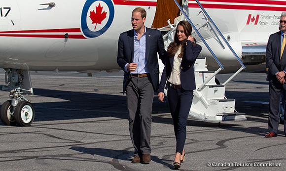 Kate visits Slave Lake in Smythe blazer and J Brand 811 jeans