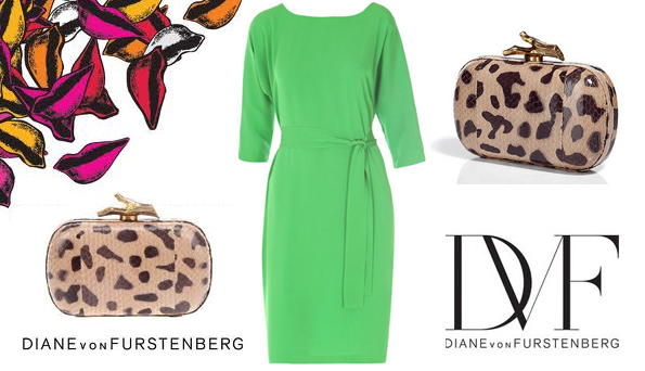 dvf green maja dress