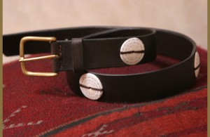 Handmade Shell Button Belt by Linda Camm