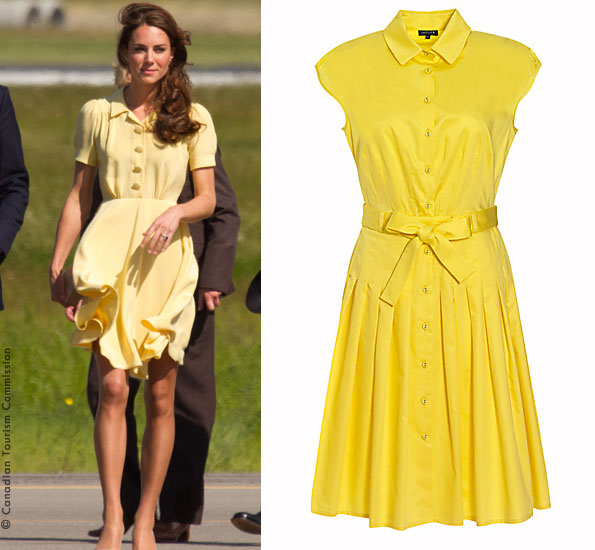 Dress similar to Kate's yellow Jenny Packham dress