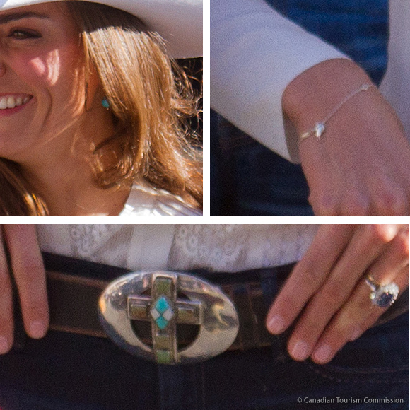 Kate's belt, bracelet and earrings at the Calgary Stampede