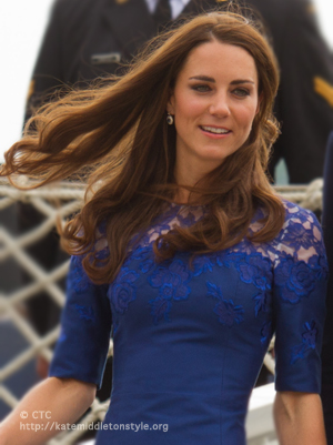 Kate's blue lace dress