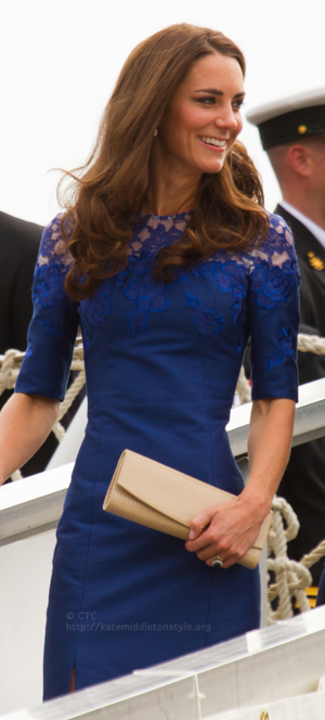 Kate Middleton Blue Lace Erdem