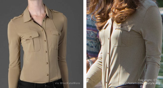 kate middleton burberry shirt
