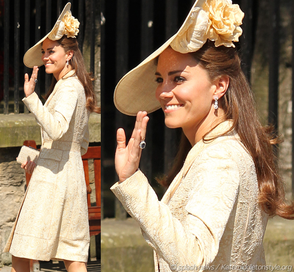 Kate in DAY Birger et Mikkelsen coat for Zara Phillips' & Mike Tindall's wedding